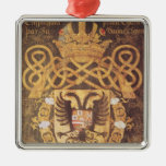 Coat of Arms of Charles V  of the 23rd Chapter Metal Ornament