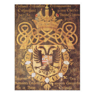 Coat of Arms of Charles V  of the 23rd Chapter Postcard