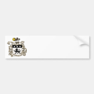 Coat of Arms of Colonel William Ball of Virginia. Car Bumper Sticker