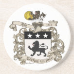 Coat of Arms of Colonel William Ball of Virginia. Drink Coasters