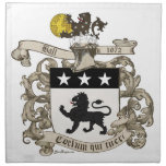 Coat of Arms of Colonel William Ball of Virginia. Napkins