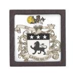 Coat of Arms of Colonel William Ball of Virginia. Premium Jewelry Box