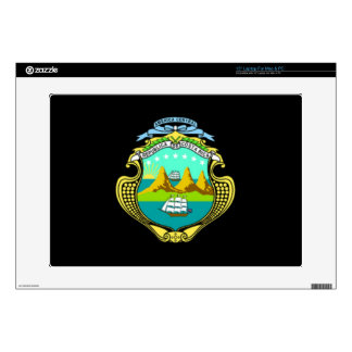 """Coat of arms of Costa Rica 15"""" Laptop Skins"""
