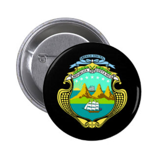 Coat of arms of Costa Rica 2 Inch Round Button