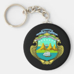 Coat of arms of Costa Rica Basic Round Button Keychain