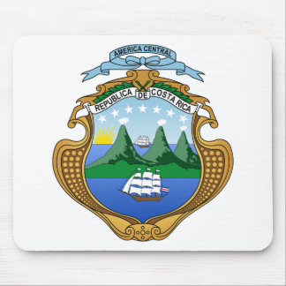 Coat of arms of Costa Rica - Escudo de Costa Rica Mouse Pad