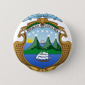 Coat of arms of Costa Rica - Escudo de Costa Rica Pinback Button
