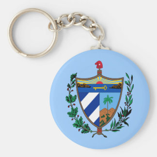 Coat of arms of Cuba Basic Round Button Keychain