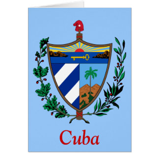 Coat of arms of Cuba Card