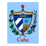 Coat of arms of Cuba Postcard