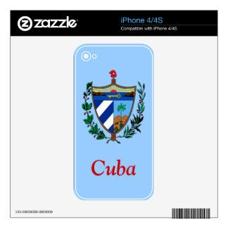 Coat of arms of Cuba Skins For iPhone 4S