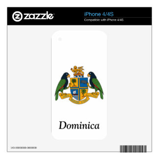 Coat of arms of Dominica iPhone 4S Decals