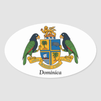 Coat of arms of Dominica Oval Sticker