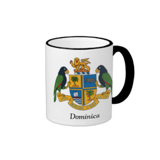 Coat of arms of Dominica Ringer Coffee Mug