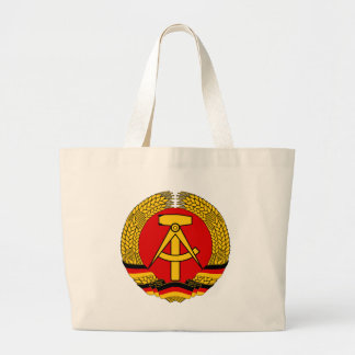 Coat of arms of East Germany Large Tote Bag
