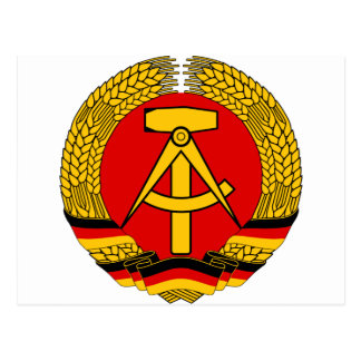 Coat of arms of East Germany Postcard