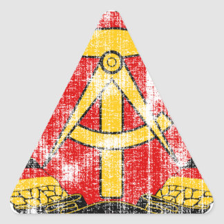 Coat of arms of East Germany Triangle Sticker