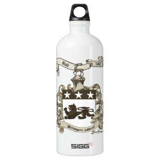 Coat of Arms of Edward Ball of Branford, CT Aluminum Water Bottle