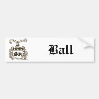 Coat of Arms of Edward Ball of Branford, CT Car Bumper Sticker