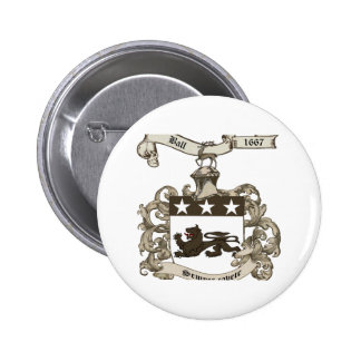 Coat of Arms of Edward Ball of Branford CT Pin