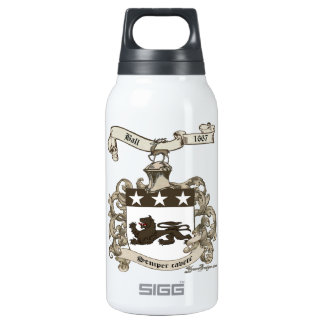 Coat of Arms of Edward Ball of Branford, CT Insulated Water Bottle