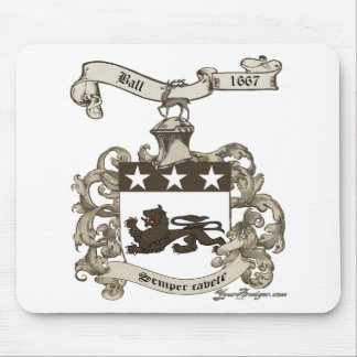Coat of Arms of Edward Ball of Branford, CT Mouse Pad