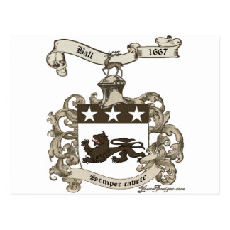 Coat of Arms of Edward Ball of Branford, CT Postcard