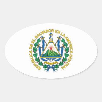 Coat of Arms of El Salvador Oval Sticker
