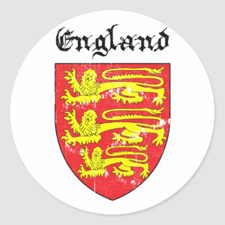 Coat of arms of England Classic Round Sticker
