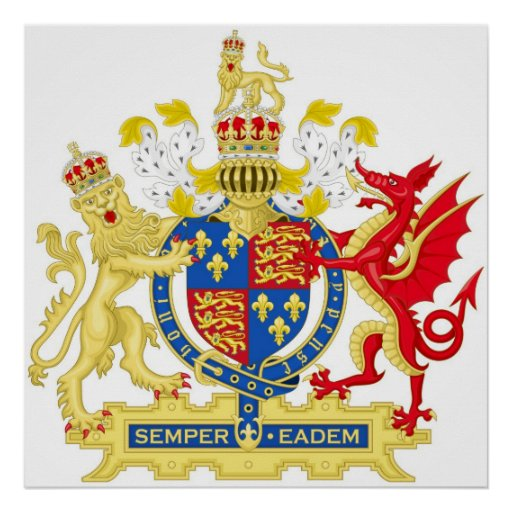 Coat of Arms of England Used By Queen Elizabeth I Poster