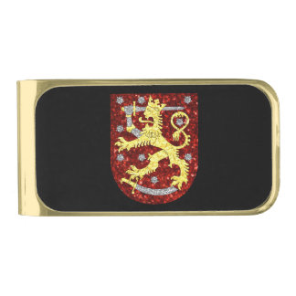 Coat of arms of Finland  Gold Gold Finish Money Clip