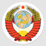 Coat of Arms of former Soviet Union Classic Round Sticker