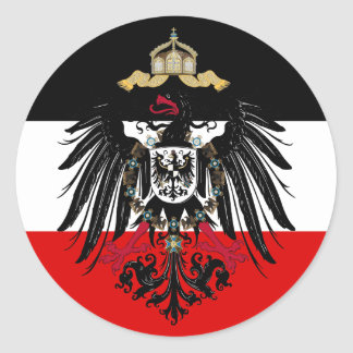 Coat of Arms of German Empire Classic Round Sticker