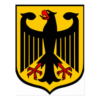 Coat of Arms of Germany. Postcard