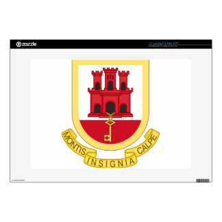 "Coat_of_Arms_of_Gibraltar 15"" Laptop Skin"