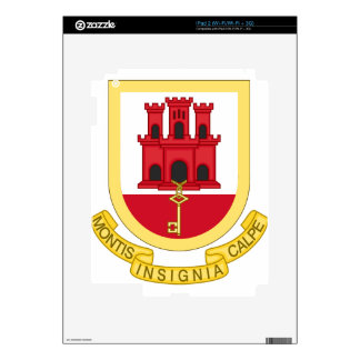 Coat_of_Arms_of_Gibraltar iPad 2 Skin