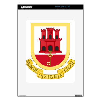Coat_of_Arms_of_Gibraltar iPad Decals