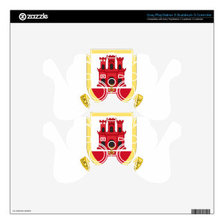 Coat_of_Arms_of_Gibraltar PS3 Controller Decal