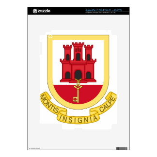 Coat_of_Arms_of_Gibraltar Skins For iPad 3