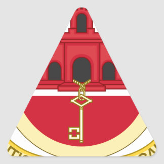 Coat_of_Arms_of_Gibraltar Triangle Sticker
