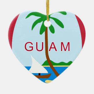 Coat_of_arms_of_Guam Ceramic Ornament