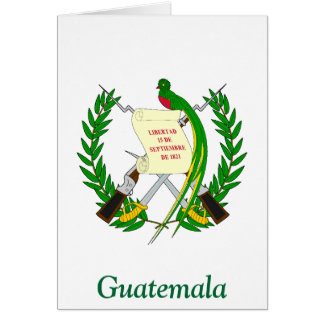 Coat of arms of Guatemala Cards