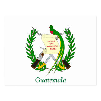 Coat of arms of Guatemala Postcard