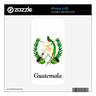 Coat of arms of Guatemala Skins For iPhone 4