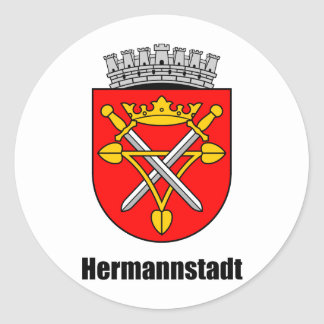Coat of arms of Hermannstadt Classic Round Sticker