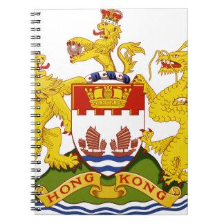 Coat_of_arms_of_Hong_Kong_(1959-1997) Spiral Notebook