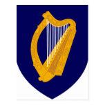 Coat of arms of Ireland - Irish Emblem Postcard