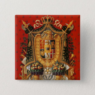 Coat of Arms of Italy, design for a tapestry Button