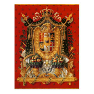 Coat of Arms of Italy, design for a tapestry Postcard