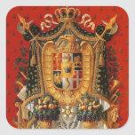 Coat of Arms of Italy, design for a tapestry Square Sticker